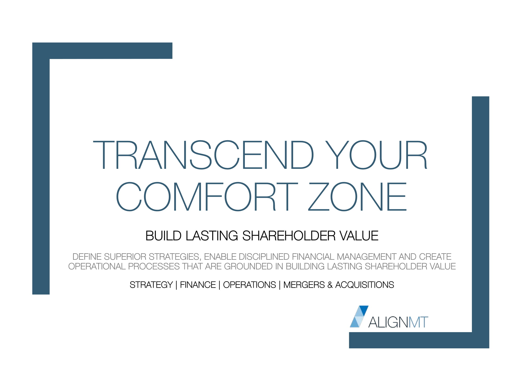 Transcend Your Comfort Zone 2018