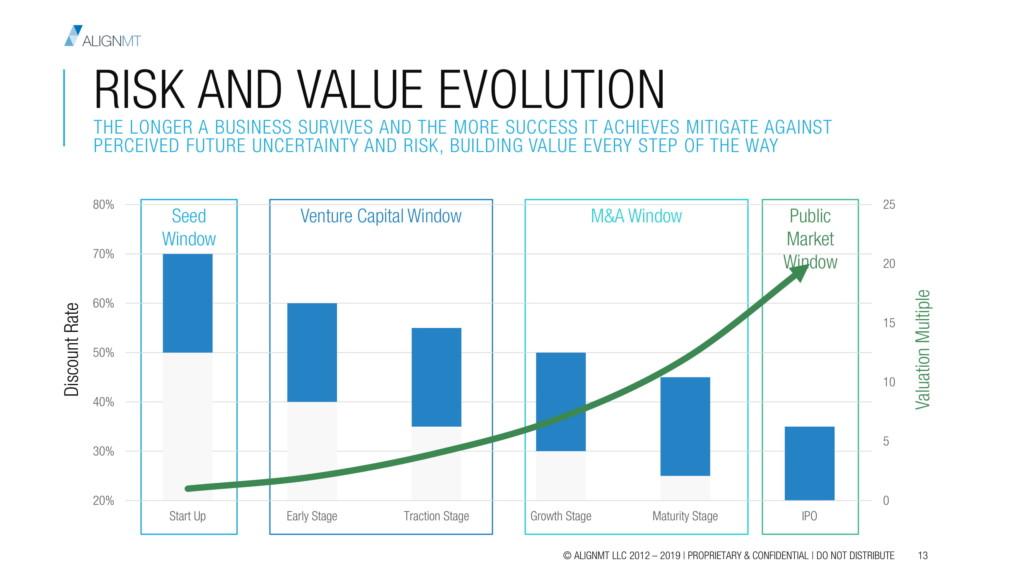 Risk and Value Evolution