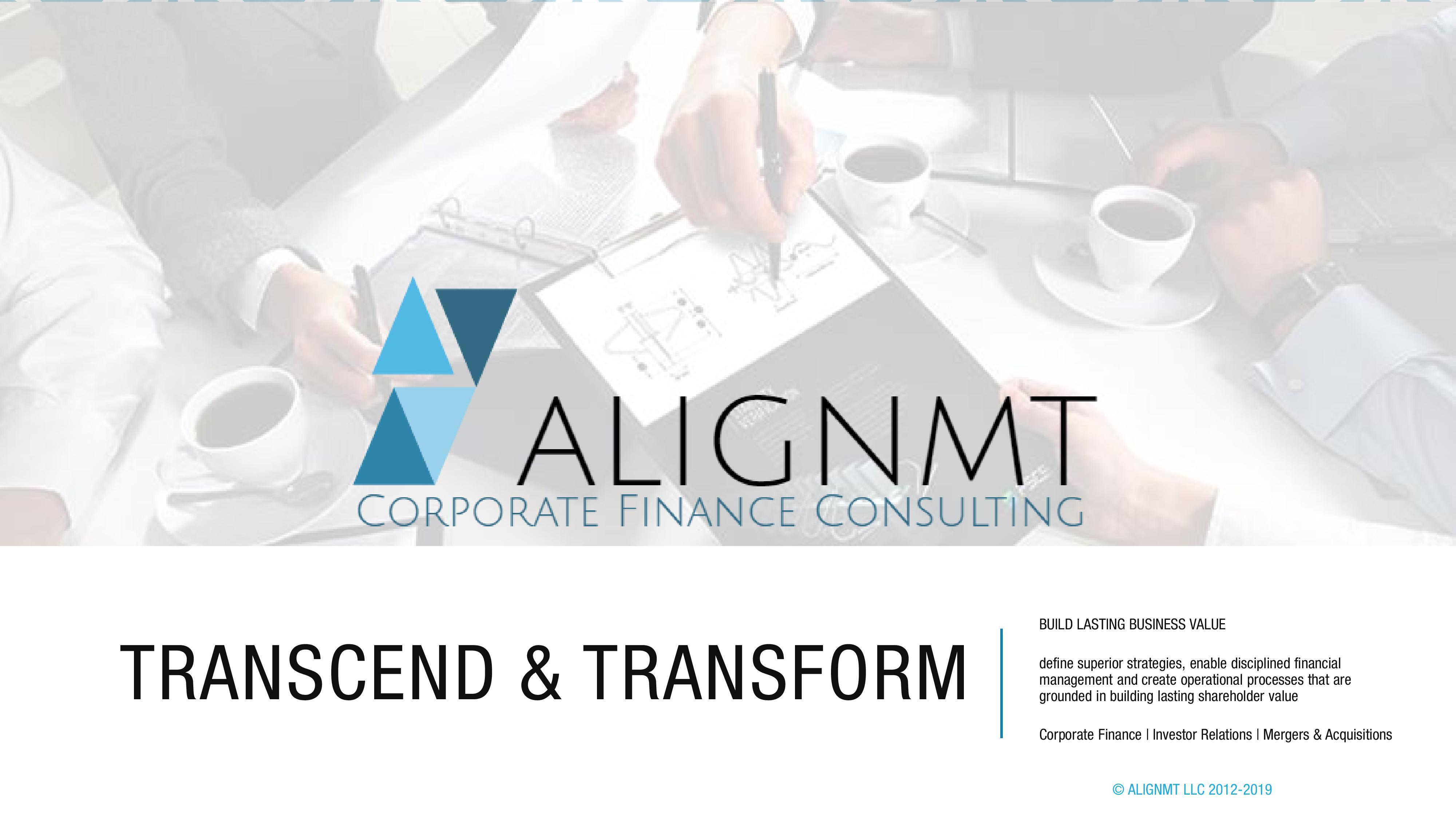 ALIGNMT Transcend & Transform