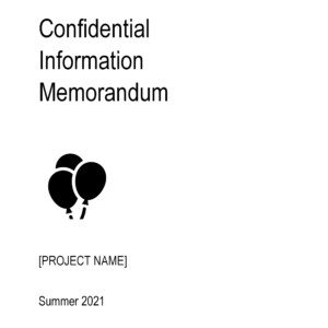 Confidential Information Memorandum Template